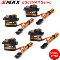 EMAX ES08MA ES08MAII 12g Mini Metal Gear Servo analógico para aviones Rc coche barco avión, helicóptero Rc Robot envío gratis