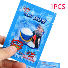 1 Pack Artificial Snow Instant Snow Powder Fluffy Snowflake Kids Room Decoration Frozen Party Magic Prop Christmas Party Decor(China)