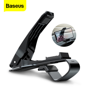 Image 1 - Baseus Dashboard Car Phone Holder For iPhone X 8 7 Samsung S9 S8 Mobile Phone Holder 360 Degree Adjustable Clip GPS Car Holder
