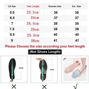 Image 5 - AIMEIGAO ファッションスエード革のブーツフラットミッドカーフブーツ春秋の女性のブーツ黒青靴