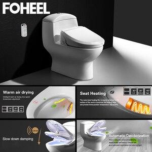 Image 2 - Foheel Intelligente Toiletzitting Elektrische Bidet Cover Bidet Warmte Schoon Droog Massage Slimme Toiletbril Voor Kind Vrouw De Oude