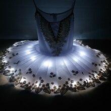 2020 חדש מקצועי Led אור בלט טוטו ברבור אגם תלבושות בנות בלרינה ילדי שמלת בלט שמלת ריקוד שלב תלבושות