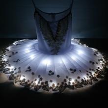Tutu pour Ballet professionnel lac cygne, robe de ballerine pour enfants, déguisement de scène de danse, nouvelle collection 2020 lumière Led