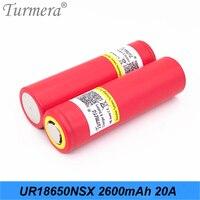Turmera-batería de litio recargable UR18650NSX, 2600mah, 20A, 3,6 V, para destornillador, Shura, cigarrillo eléctrico, vaporizador