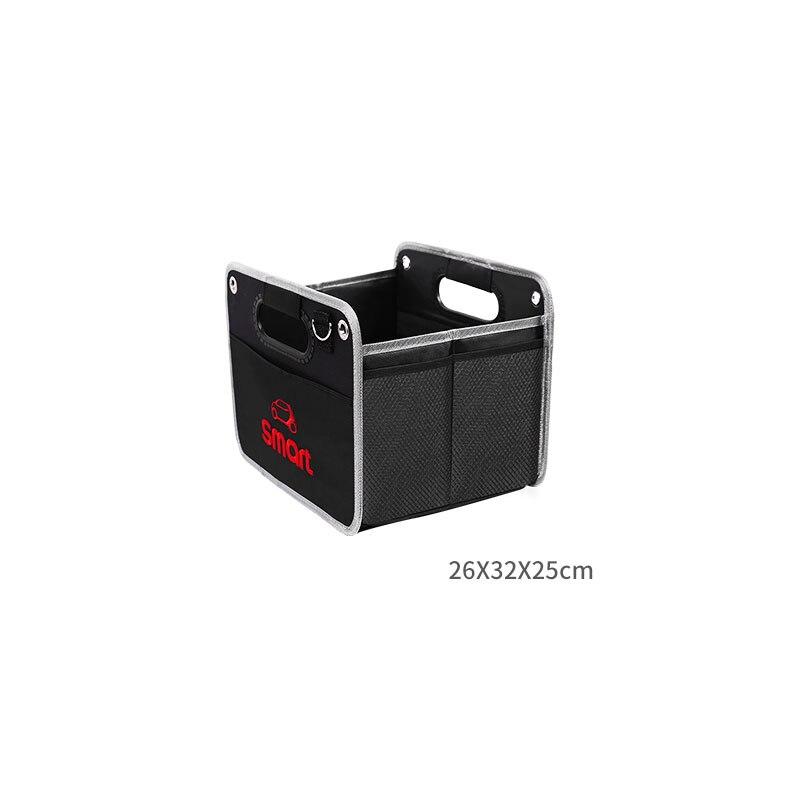 Image 4 - Składany czarny torba do przechowywania z tkaniny oxford do przechowywania torba dla Smart Fortwo Forfour 453 451 logo jeśli w tej klasie nie ma samochodu akcesoria samochodowe torba z siateczkąSprzątanie i organizacja   -