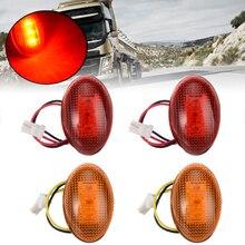 4pcs/set 3LED 12V Fender Side Marker Light Front Rear Amber Red Lamps For Ford F350 1999-2010