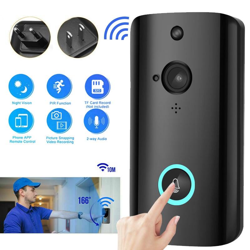 Sonnette intelligente sans fil 720P HD grand angle alarme basse puissance pousser plusieurs utilisateurs regarder en ligne en même temps de la musique (52 types) - 4