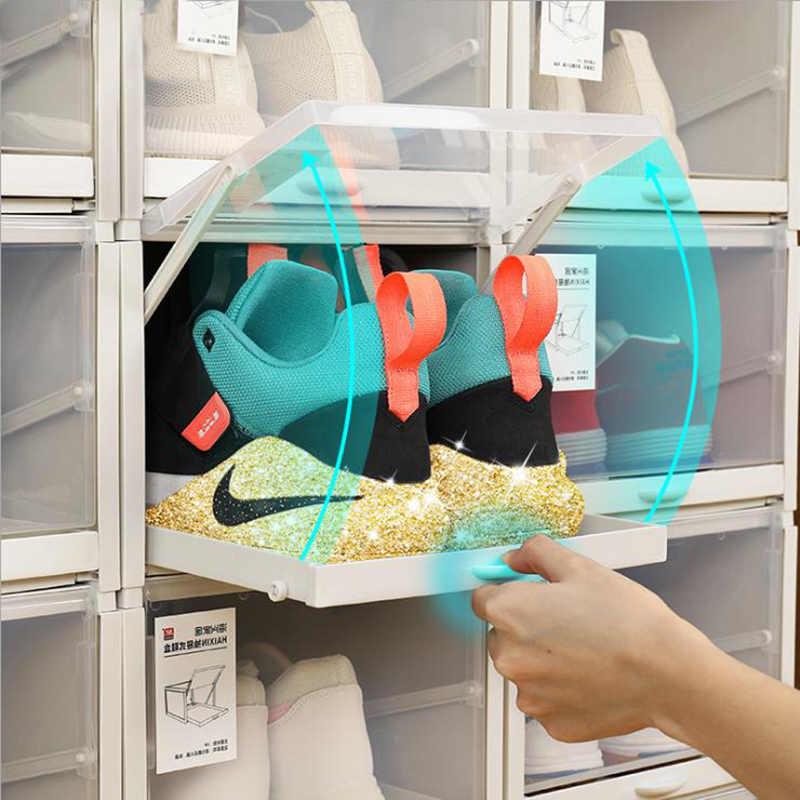 Baffecte 3 Pieces Lot Rangement Chaussures Tiroirs Etagere A Chaussures En Plastique Empilable Boites A Chaussures Boite A Chaussures Organisateur Pour Talons Hauts Baskets Aliexpress