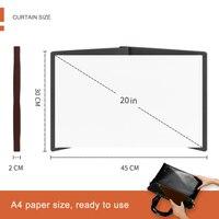 20 дюймов HD проектор экран Портативный видео экран широкоформатный складной Анти-складки Крытый Открытый OUJ99
