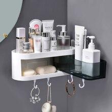 Estantería de pared para baño, estante de almacenamiento para cosméticos y champú, organizador de cocina, artículos para el hogar, accesorios para baño