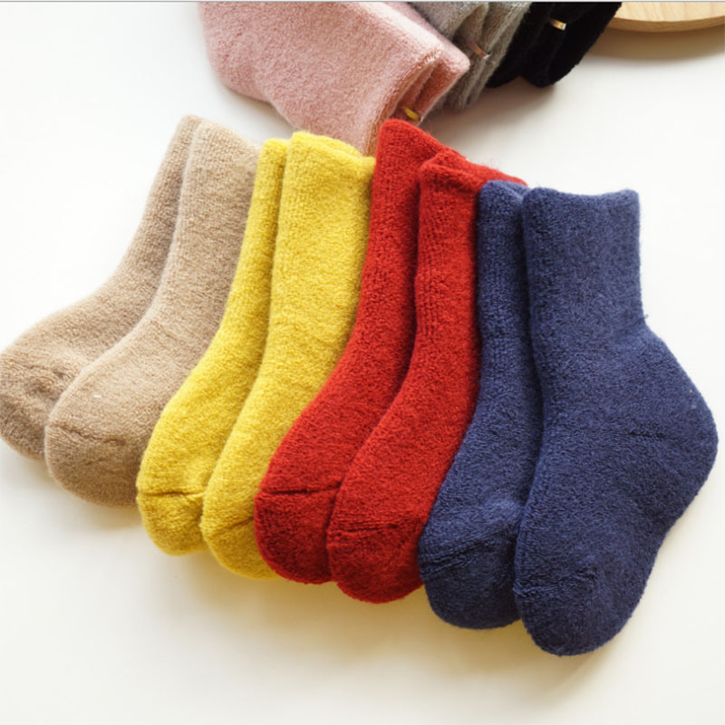 Baby Winter Thick Terry Socks Soft Warm Newborn Cotton Boys Girls Cute Toddler Socks Floor Socks 0-2 Years