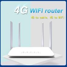 LC115 LTE CPE 4G wifi router SIM card Hotspot CAT4 32 users RJ45 WAN LAN wireless modem