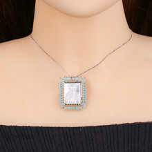 Newranos Virgin Mary pendant necklace AAA CZ Zirconias white mother pearl fashion jewelry for women PGY034(China)