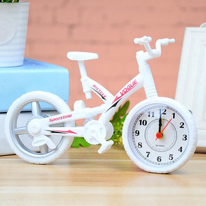 Vintage Table Mute Alarm Clock Gifts Stylish Fashion Movement Desktop Decoration Home Kids Bedroom Office Bicycle Shape Plastic