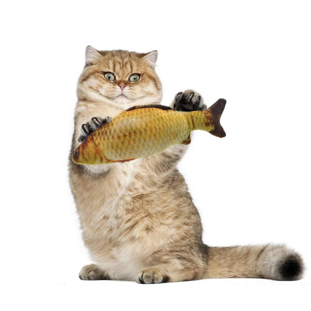 1/5 pièces drôle interactif chat en peluche jouet poisson artificiel jouets animal oreiller poisson jouet adapté pour chats cataire formation cadeau enfant