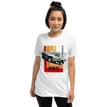 T-shirt manches courtes unisexe, rétro, Toyota Hilux 80