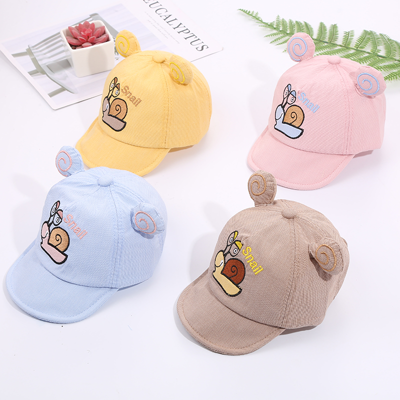 Hb3cd0cf0893c48e09e0293b60169ac27l - Baby Hat Cute Bear Embroidered Kids Girl Boy Caps Cotton Adjustable Newborn Baseball Cap Infant Toddler Beach Outdoor Sun Hat