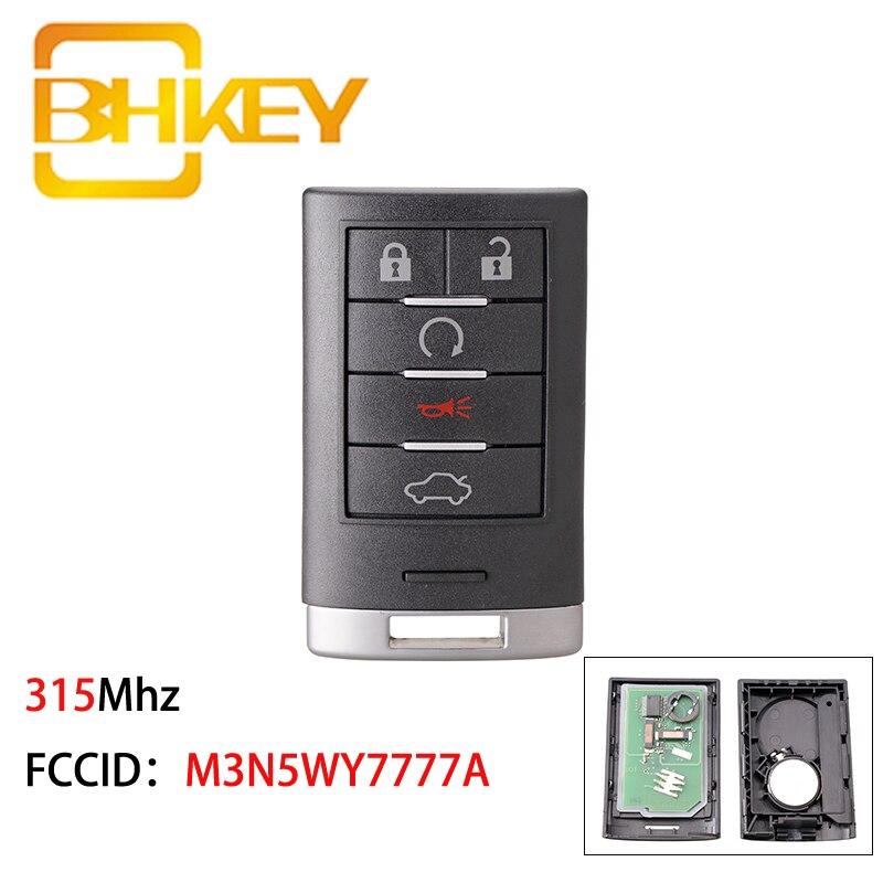 Купить bhkey m3n5wy7777a для cadillac key 315 мгц автомобильные дистанционные