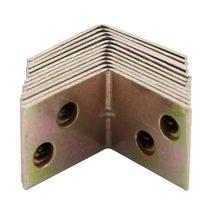 Металлическая Полка Поддержка 90 градусов правая угловая скобка 12 шт. латунный тон