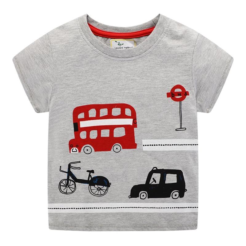 2020 Boys T shirt Kids Clothes T-shirt Summer Top Car Tshirt koszulki koszulka roupa infantil boys tshirts Cartoon Tee shirt New 5
