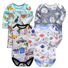 Baby Bodysuit Girl Clothes O-neck daughter Infant Jumpsuits Newborn Long Sleeve Bodysuits Cartoon Outerwear