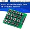 8pin 4x4 4*4 Matrix 16 klawiszy przycisk klawiatura numeryczna moduł Breadboard MCU dla arduino Diy Kit