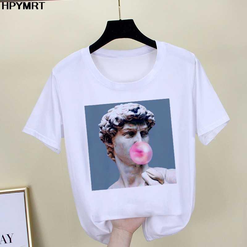 2020 뉴 여름 스푸핑 공주와 프린스 프린트 T 셔츠 여성 미학 웃긴 티셔츠 캐주얼 탑 T 셔츠 여성 의류