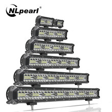 Nlpearl Licht Bar/Arbeit Licht 4-32 zoll Led Bar Combo Driving LED Arbeit Licht Für Lkw Offroad traktor 4x4 SUV ATV Boot 12V 24V