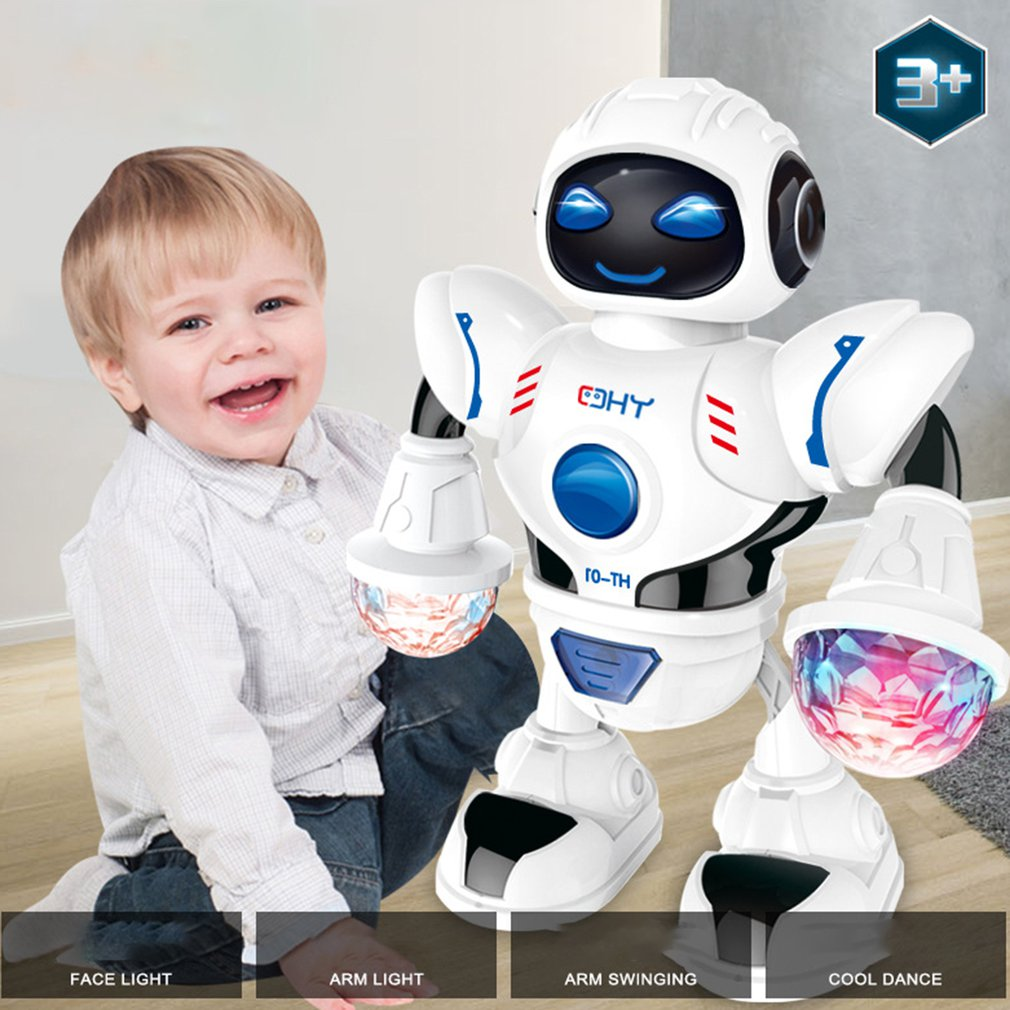 Children'S Electric Dancing Robot With Led Light Music Children'S Educational Toys Dance Robots Exquisite Gifts