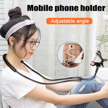 Newly Universal Long Arm Hanging Neck Cell Phone Stand Mount Bendable Bracket Holder BN99