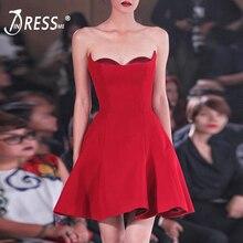 INDRESSME с открытыми плечами Для женщин Бандажное платье вечерние платья модная куртка с надписью «Mini одноцветное бальное платье женское платье Vestidos