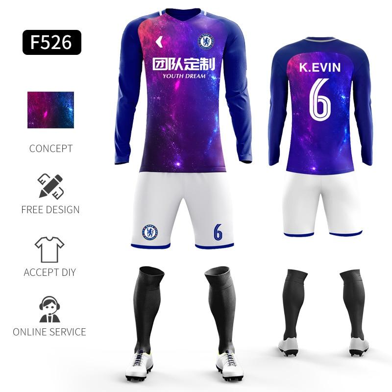 Custom Football Jerseys Full Sublimation Printing Soccer Jerseys Club Team Football Training Uniform Suit Soccer Uniform For Men 24