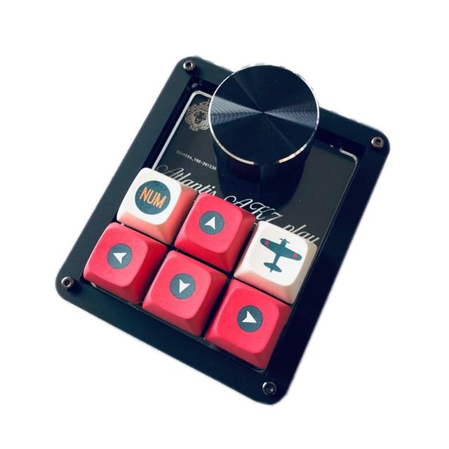 QMK Macro keyboard 6keys + Knob Designer PS keyboard Gamming Draw Programming Keyboard VIA Red White switch Hotswap 3