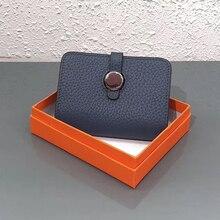 9 ألوان جلد طبيعي محافظ المحافظ الأزياء صغيرة المال حقيبة الفاخرة البسيطة محفظة نسائية للعملات المعدنية غلق بمشبك تصميم محفظة