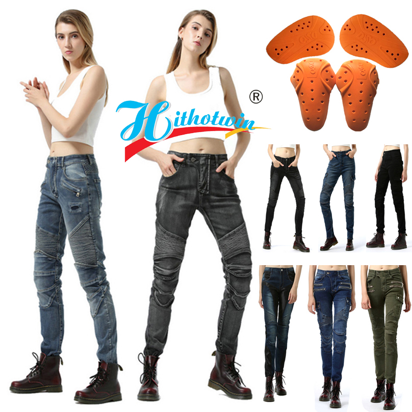 Many styles Women Motorcycle Jeans Moto Pants Protective Gear Riding Touring Motorbike Pants Motocross Trousers Riding Pants