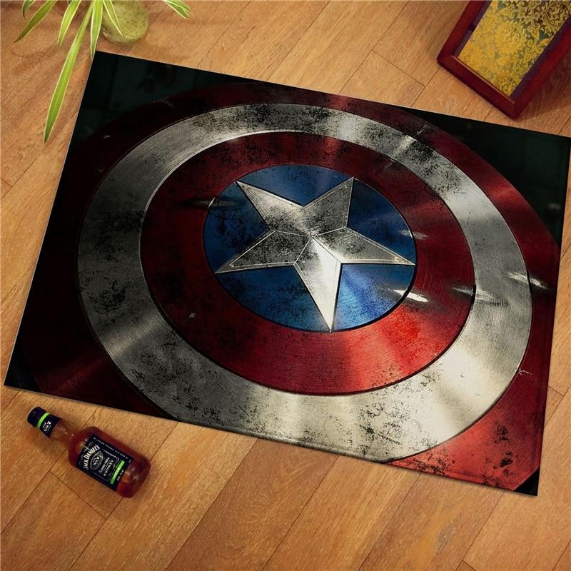 The Avengers Plush Carpet Door Mat Marvel Captain America Iron Man Spiderman Super Hero Rug Floor Pad Mats Gifts For Kids