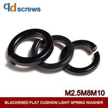 8.8 M2.5M8M10 Blackened flat cushion light spring washer GB859