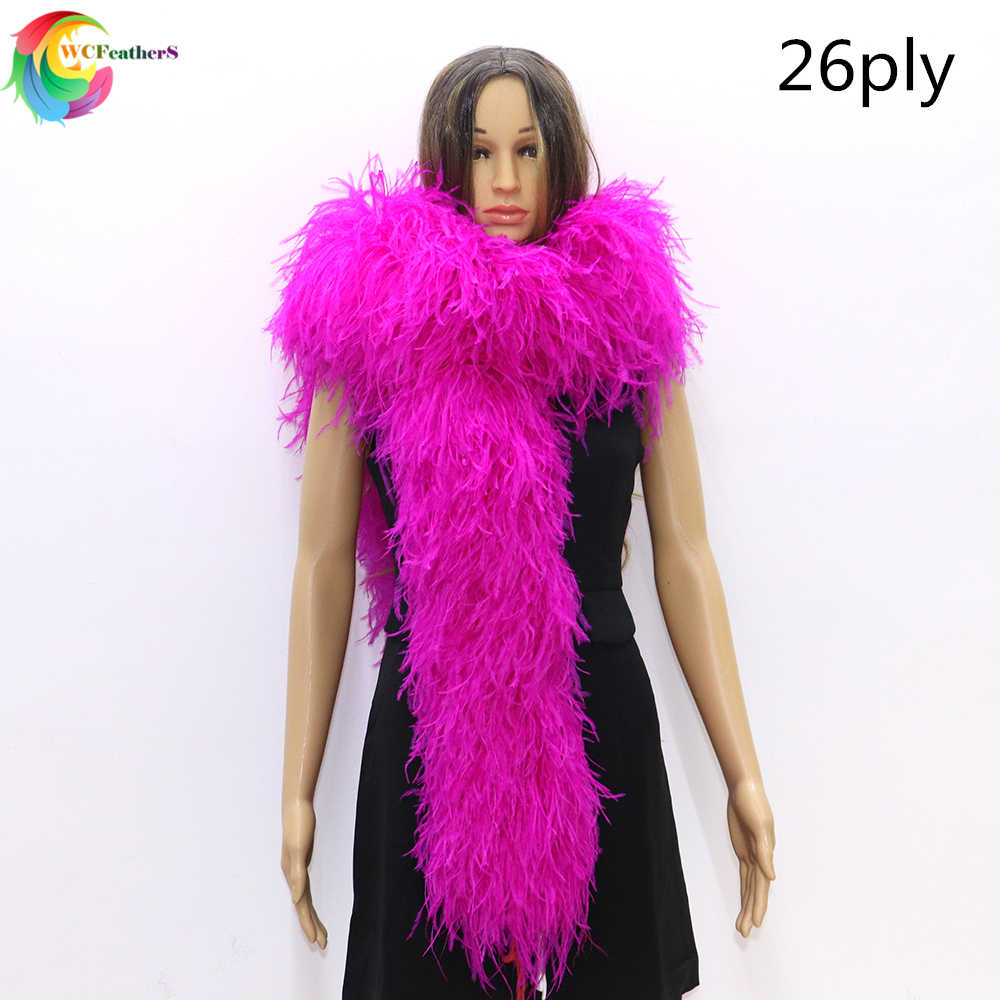 2M Handmade Feather Boa Fluffy Craft Costume Wedding Home Decor Dress Accesso