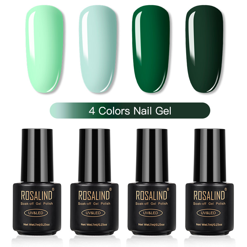 ROSALIND Gel Nail Polish Set Solid Color Nail Kit For Manicure Vernis Semi Permanent 7ML Gel Kit Top And Base All For Manicure 13