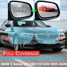 Capa completa película protetora anti nevoeiro para bmw série 5 e39 e60 f10 g30 520i 525i 530i 535gt 520d m 1995 rearview 2020 retrovisor à prova de chuva