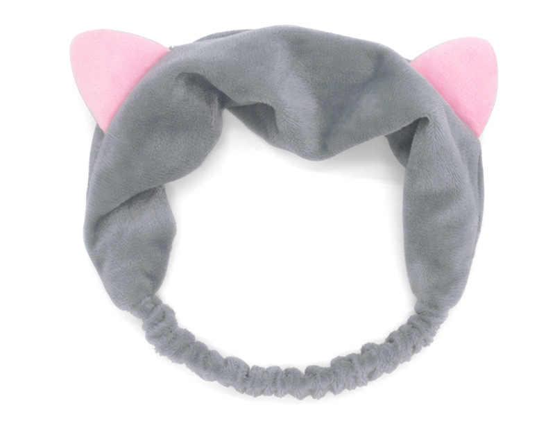 Lindas orejas de gato Rosa vida diaria pelo de invierno diademas de pelo para mujeres niñas maquillaje fiesta accesorios para el cabello regalo