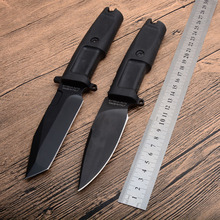 New!!!  Black ck0078 57HRC 440C blade Rubber handle hunting fixed knife outdoor camping knife survival tool tactica knife classic hunting knife blade kit damascus blade blanks diy fixed blade 57hrc camping knife blade