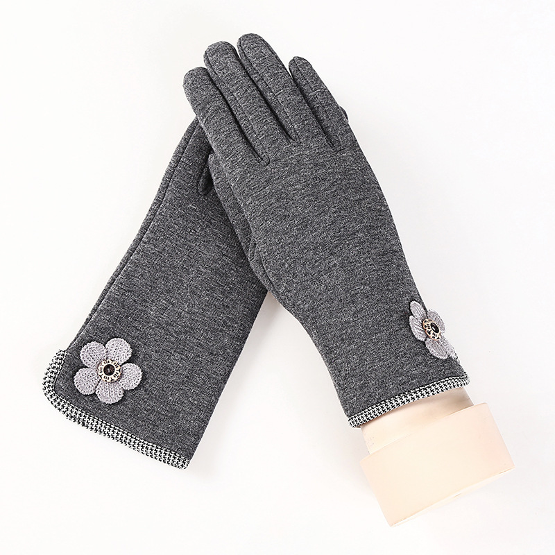 Women Winter Gloves Ladies Touch Gloves Velvet Fashion Female Girls Cotton Glove Outdoor Warm Full Finger Glove
