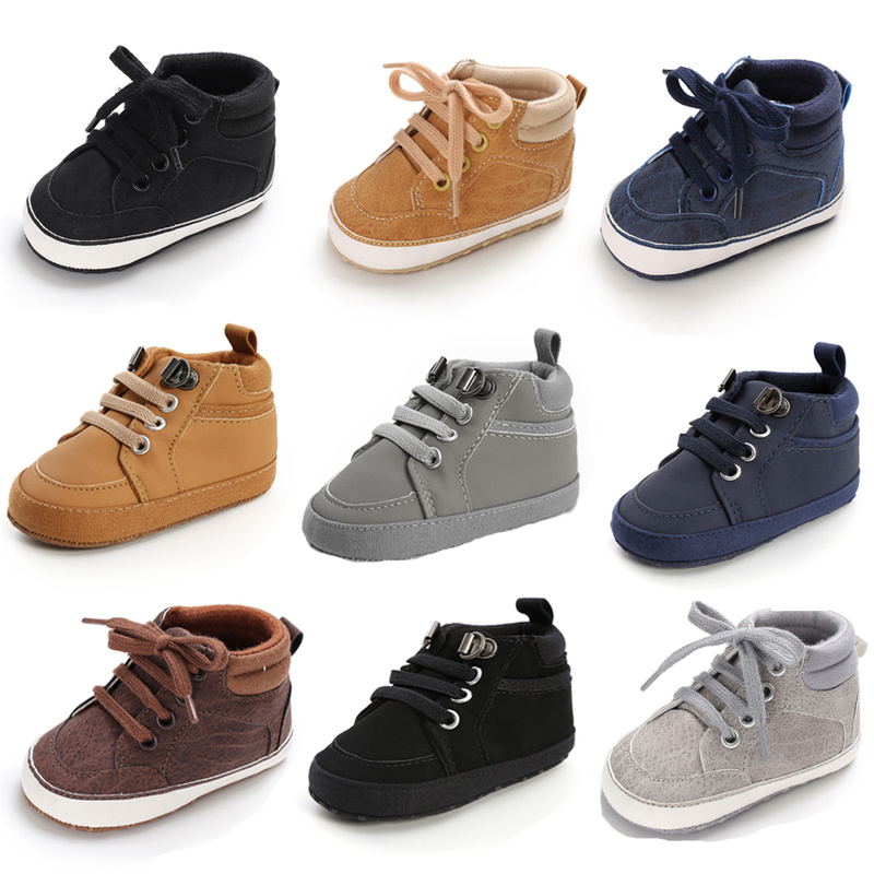 Baby Shoes Boy Newborn Infant Toddler Casual Comfor Cotton Sole Anti slip PU Leather First Walkers Crawl Crib Moccasins Shoes First Walkers  - AliExpress