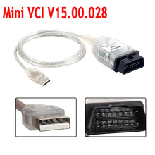 Nieuwe Mini Vci V15.00.028 Voor Toyota Auto OBD2 Diagnostische Kabel Mini Vci J2534 Met Ftdi Chip Tis Techstream Auto Kabels connectors