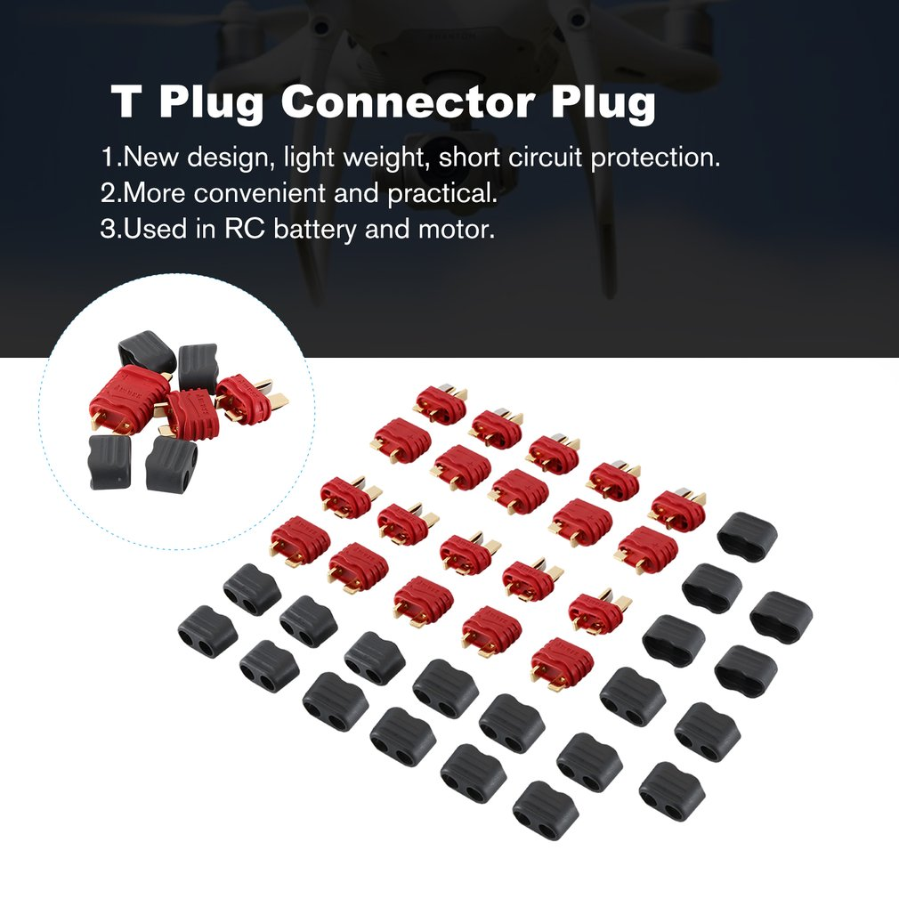 10Pair Amass Upgrated Connector T Plug Connector Plug Female And Male Connector Plugs For RC Airplane Multirotor Drone Plug