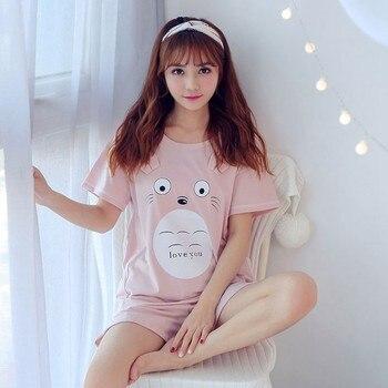 Hot sale Summer Shorts Pajama Sets for Women Short Sleeve Sleepwear Cute Girls Cartoon Pyjama Homewear Pijama Mujer Home Clothes 27