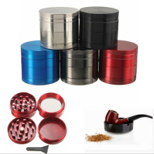 4 Layers Aluminum Tobacco Grinder Weed Grinder Tobacco Smoking Herb Grinder Spice Herbal Hand Crank Crusher Accessories herb grinder machine metal for smoking weed hand muller grinder weed for glass water pipe