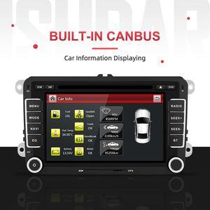 Image 2 - Isudar Car Multimedia player 2 Din Car DVD For VW/Volkswagen/Golf/Polo/Tiguan/Passat/b7/b6/SEAT/leon/Skoda/Octavia Radio GPS DAB
