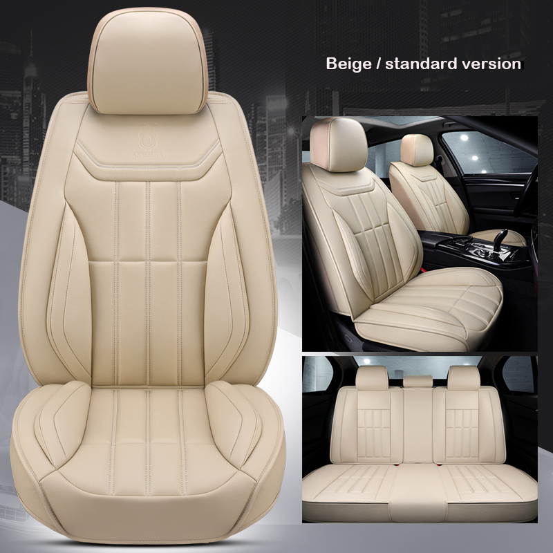 Universal Leather car seat cover for BMW 3 5 7 Series GT/X /F/E10 11 15 16 20 25 <font><b>30</b></font> e46 e39 e90 f10 f30 e60 e36 e87 accessories image